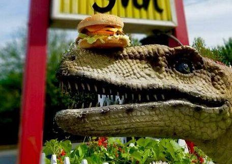 Eastside Big Tom dinosaurs-Burgrassicraptor burger