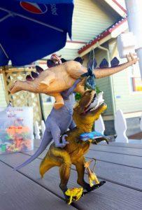 Eastside Big Tom dinosaurs-plastic toys and toybox