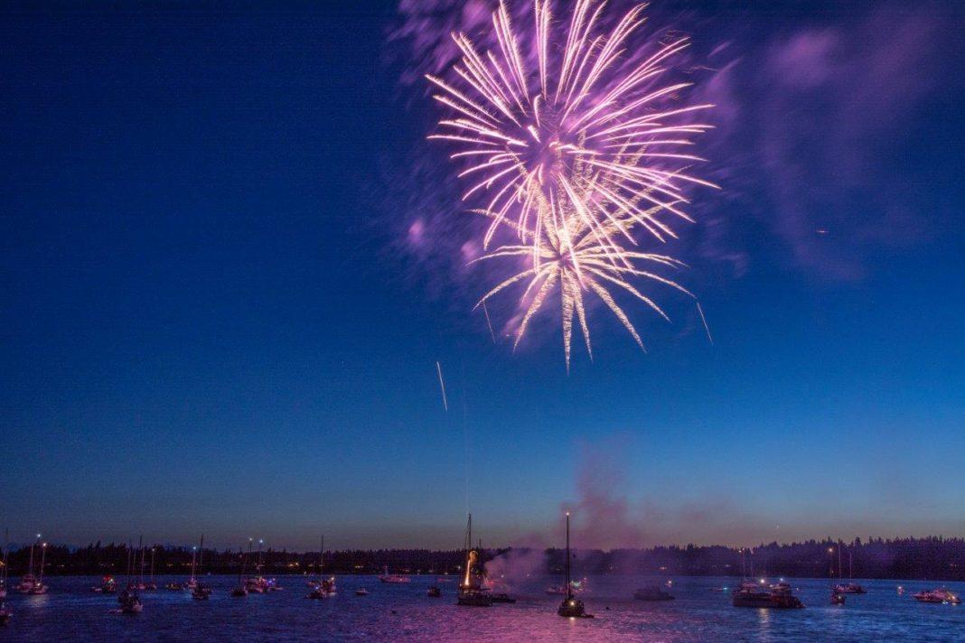 Mason County Fireworks Boston Harbor Fireworks via Chris Hamilton