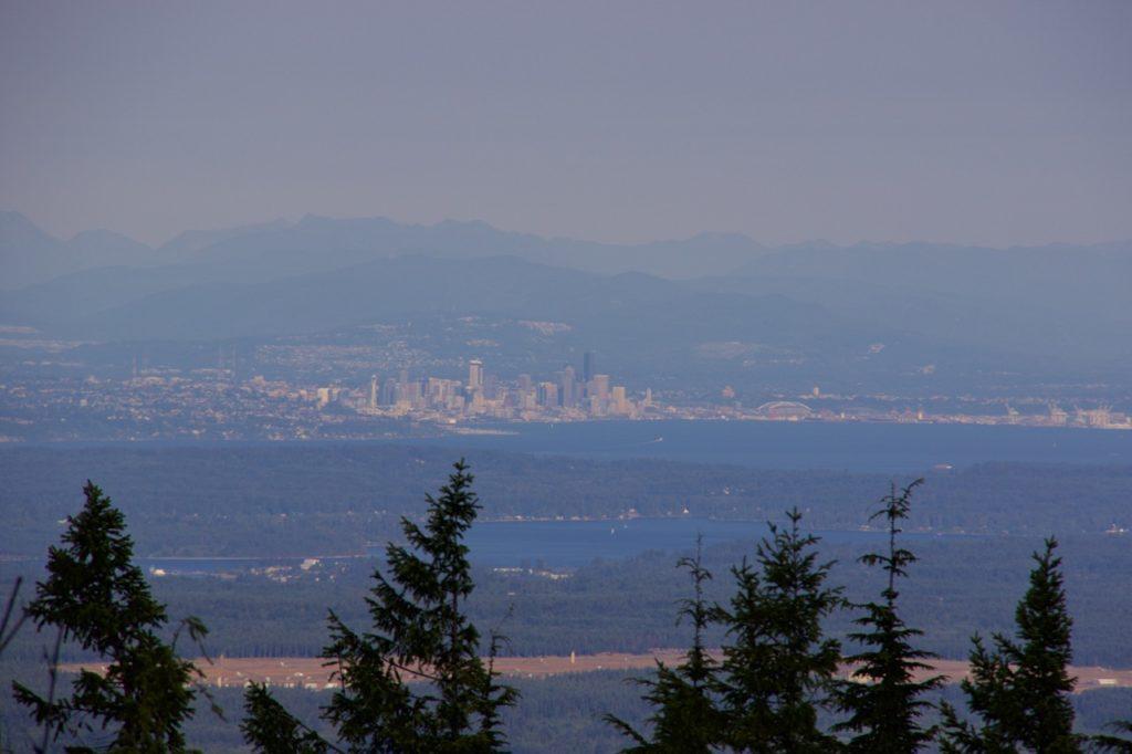 Mason County Fireworks Seattle from Mount Walker via Douglas Scott