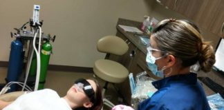 Olympia Smiles Dentistry patient nitrous gas