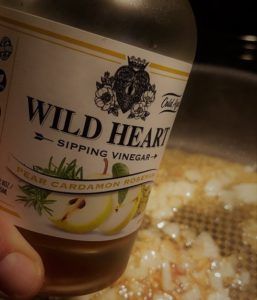 Sandstone Distillery Wild Heart Sipping Vinegars Pear Rosemary close up