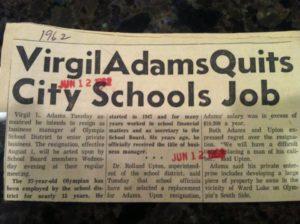 Virgil Adams Real Estate Olympian Article