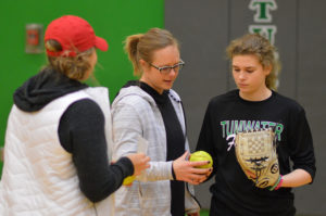 Tumwater fastpitch coach Ashley Andrews