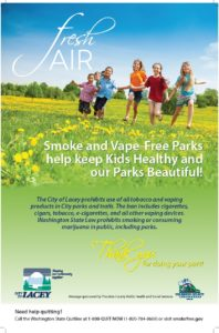 City of Lacey Parks Tobacco Free Poster