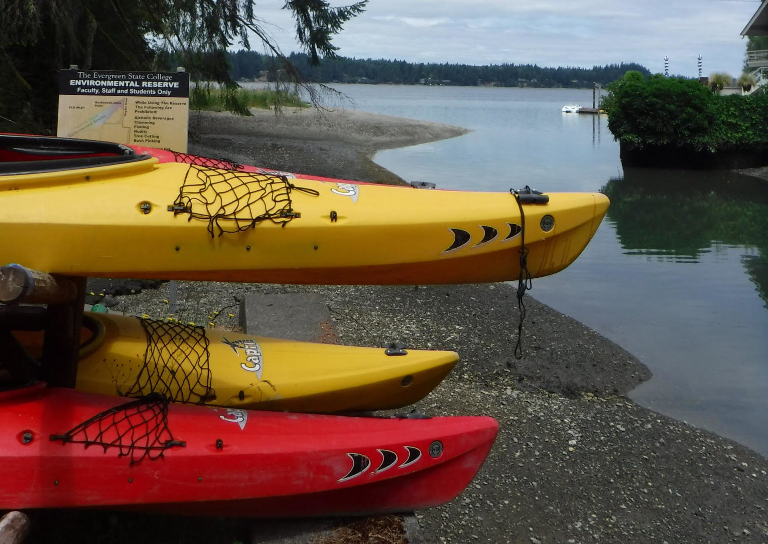 My First Kayaking Adventure with The Outdoor Program at