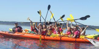 Kayak Nisqually group of girls