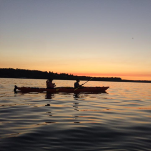 Kayak Nisqually sunset on the water