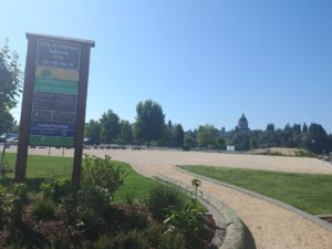 Olympia Isthmus Park sign Ice Rink