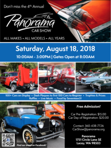 Panorama Car Show @ Panorama | Lacey | Washington | United States
