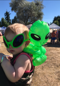 Yelm UFO Fest Baby Alien Eyes