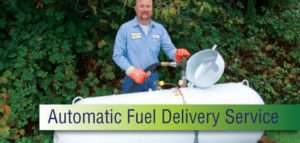 Acme propane tank filling up at home