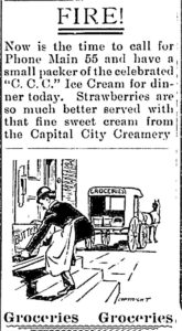 Capital City Creamery delivery ad