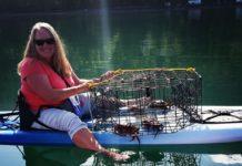 Crabbing with Kayak Brinnon