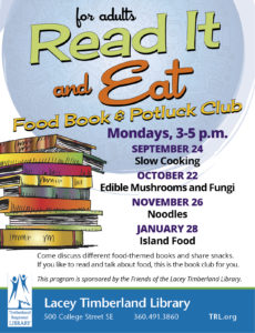 Read It and Eat Food Book and Potluck Club @ Lacey Timberland Library | Lacey | Washington | United States