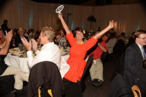 Big Brothers Big Sisters Auction Excited Bidder