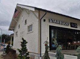 Grange turned Starbucks Tumwater, WA