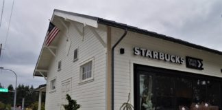 Grange turned Starbucks Tumwater, WA