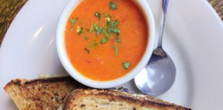 Iron Rabbit Restaurant and Bar New Fall Menu Grilled Cheese and Dungeness Crab Bisque