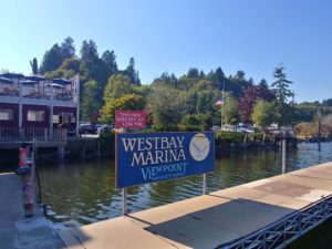 West Bay Marina sign