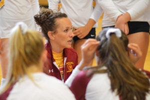 Head coach Katie Turcotte