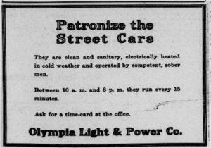 Streetcar Advertisement 1915
