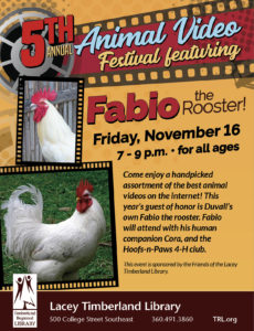 5th Annual Animal Video Festival @ Lacey Timberland Library | Lacey | Washington | United States