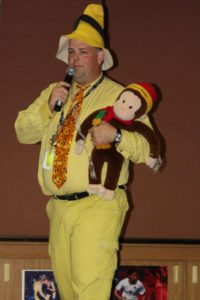 Brock Williams and Curious George
