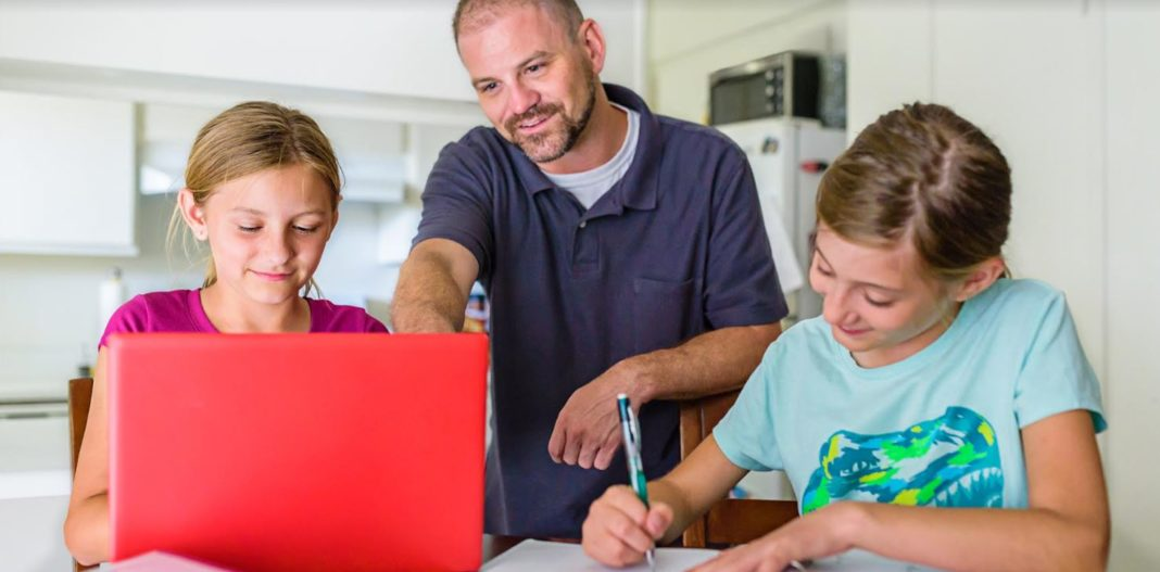 Comcast Family Using a Laptop
