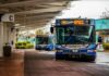 Intercity Transit Buses Parked at Station