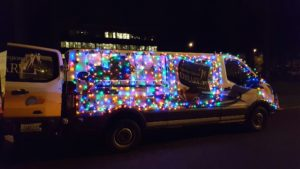 Lacey parade of Lights Library Van