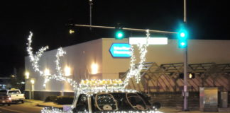 Lacey parade of Lights reindeer truck