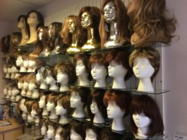 Merle Norman Cosmetics Wigs and Day Spa wig selection