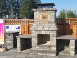 Professional Stone Products Outdoor Fireplace