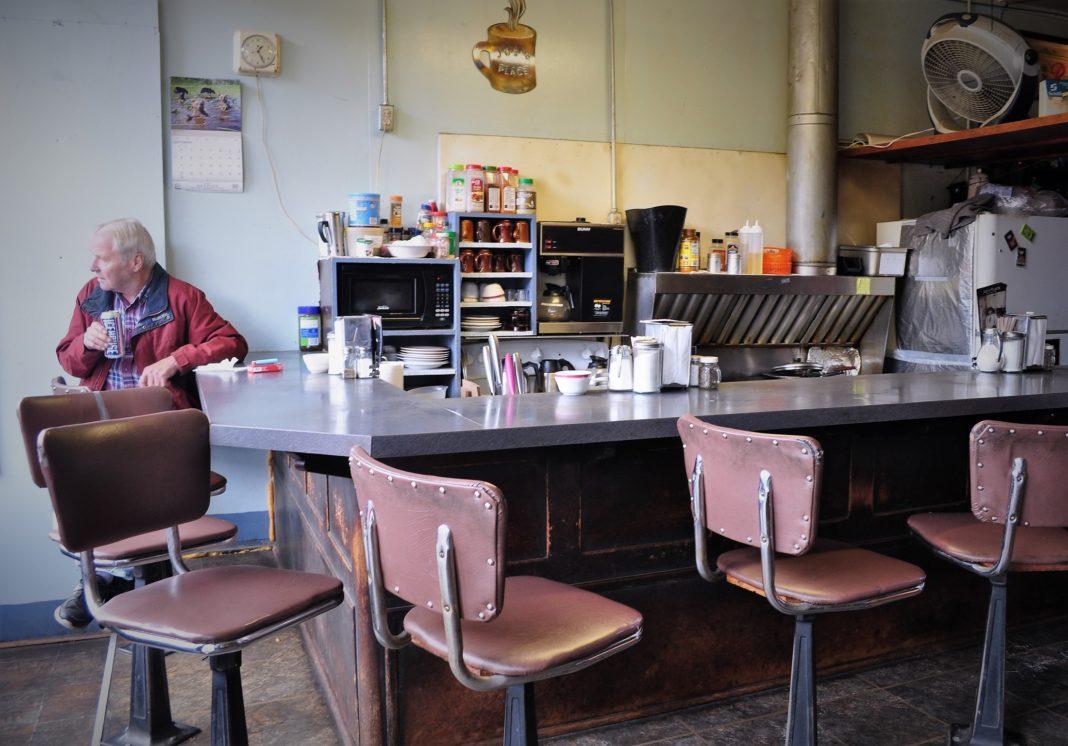 The cafe portion of Joe's Bucoda, WA