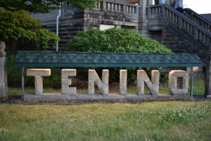 Thursto EDC Tenino Ag Park sign