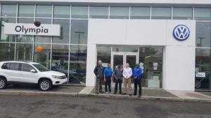 VW of Olympia crew members