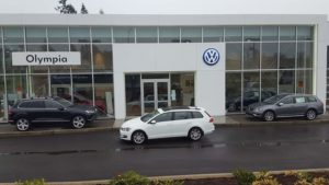 VW of Olympia front of building