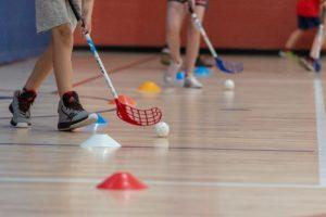 floorball League Plastic Sticks and balls