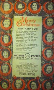Acme Fuel History Holiday Adv 1986