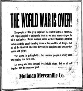 Armistice mottman advertisment