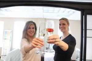 Omni Esthetics Champagne Cheers with Karen and Lauren