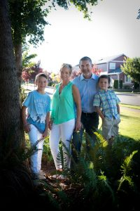 Rob Rice builder and family