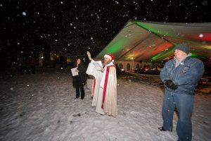Saint Martins University holiday concert-Christmas tree blessing