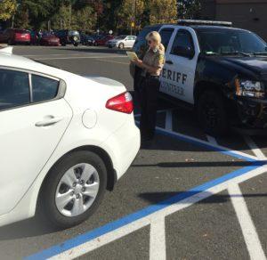 Thurston Sheriff CSU Writing Ticket