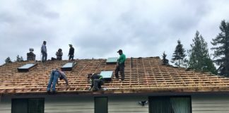 Town and Country Crew Working on Roof