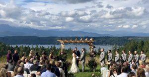 Alderbrook Golf and Yacht Club Weddings Spectacular View