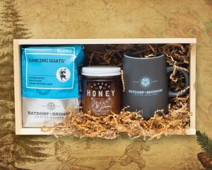 Batforf and Bronson Coffee Gift Box with Honey