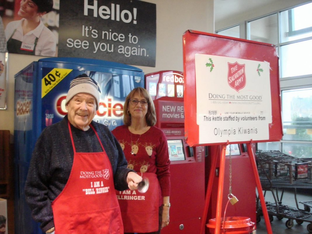 Commencement Bank-Salvation Army-Oly Kiwanis bellringers