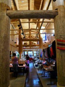 Holiday Native Art Fair Longhouse Entrance